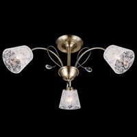 Люстра потолочная 30015 30015/3 античная бронза
